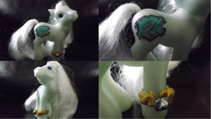 Harry Potter, Slytherin- My Little Pony Customs by Cemetery-Nightmare