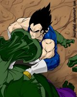 Vegeta taking Hulks arm by lmayfield