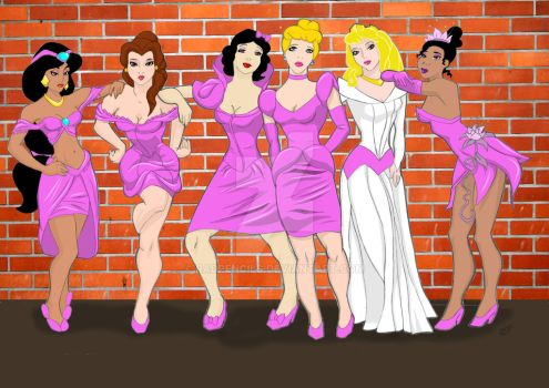 Princess Bridesmaids by RadPencils