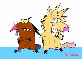 Angry Beavers by starkelstar