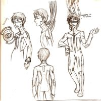Portal - Wheatley sketchdump by Brainiac6Techgirl