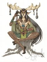 Deerman Shaman by Murielle