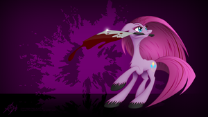 Mena Skidding With Her Cleaver by CybertronikPony