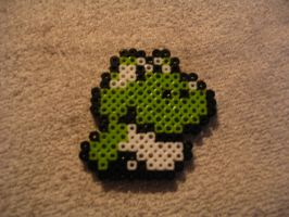 Perler Just Hatched Yoshi by ultimicea