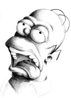 Homer- in graphite by outsmartass