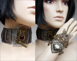 Watch and collar set by Pinkabsinthe