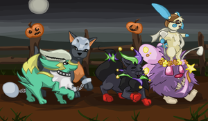 Pocket-Monsters on Parade by cerulean-kitsune