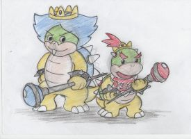 Prince Ludwig and Bowser Jr by ImotepNicholas