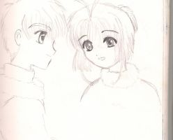 Sakura and Syaoran by Misa--Chan