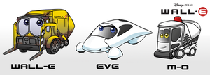 WALL-E Cars by forte-girl7