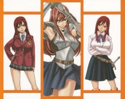 Erza's Clothes 1 Update by HibouMan