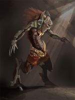 Kukulcan_Warrior by omonteon