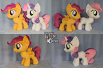 Scootaloo\Sweetie Belle by WhiteDove-Creations