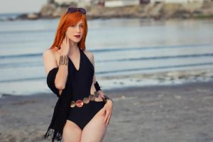 Black Widow Swimsuit I by EnchantedCupcake