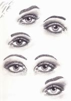 eye studies by TheHiddenTalents