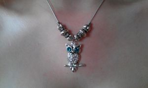 Owl Necklace by LucyLostInWonderland