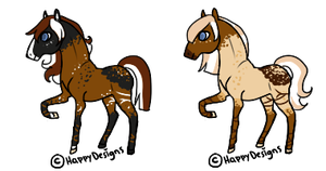 Fredrick And Nerissa Foals by HappyDesigns