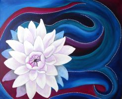 Lotus Swirl Painting by ChaoticatCreations
