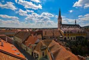 Roofs of old Koszeg by olgaFI