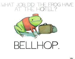 What job did the frog have at the hotel? by arseniic