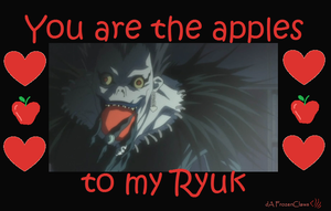 Death Note Valentine: Apples to my Ryuk by FrozenClaws