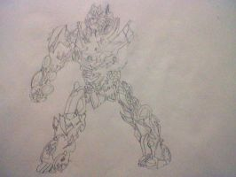 unfinished dotm soundwave. Finish me. by amazerbeta