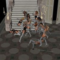 Gloved and Booted Ballroom Battle Scene 15 by gloveslover99