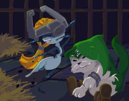 midna and wolfy toony final by jobiwan