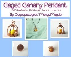 Caged Canary Pendant - For Sale by Oogeepatogoa