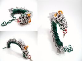 Chainmail Dragon Bracelet 'Puff' by SerenityinChains