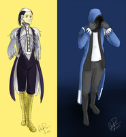 027 and 063 - Characters by twapa