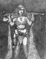 Red Sonja Mistress of Sword and Sorcery Pencil by KurtBrugel