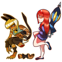 Ms. Fortune and Parasoul by Gullacass