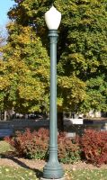 Green Lamp Post by FantasyStock