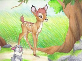 Bambi and Thumper by MudstarMord-Sith