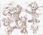 Amy sketches by RianRen
