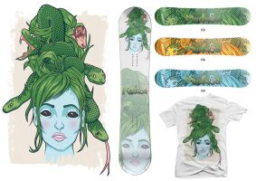Medusa snowboards by ROAR-productions
