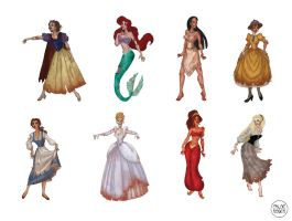 Zombie Disney Princesses and heroines I Part One by LaTaupinette
