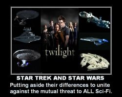 Star Trek and Star Wars by DoctorWhoOne