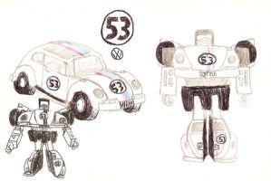 Autobot Herbie Concept Sketch by LittleBigDave