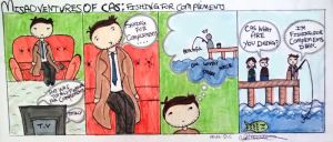 Misadventures of Cas: Fishing for Compliments by AlulaDreamsArt