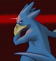 Golduck by Phi8