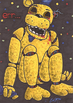 Art Card 27 - Golden Freddy by VickyViolet