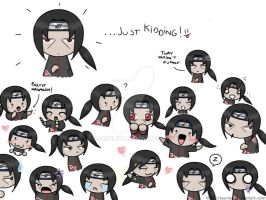 The many faces of Itachi by saurien