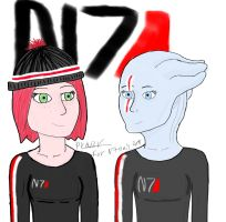 N7 Day - Jane and Liara by Prouzr