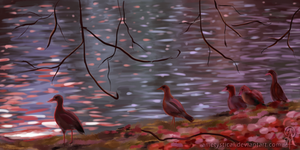 Morning at the Lake [Speed Study] by Ametystical