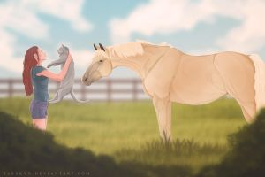 Greeting our new mare by TARSKYN