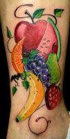 Fruit Tattoo by BodyArtbyElf
