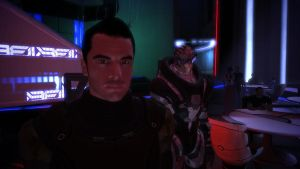 Kaidan and Garrus at the Flux - Mass Effect by loraine95