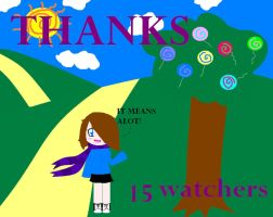 Thanks 15 watchers by animecat237